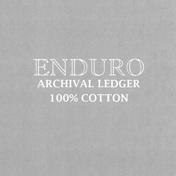 ENDURO archival ledger 100% cotton paper example